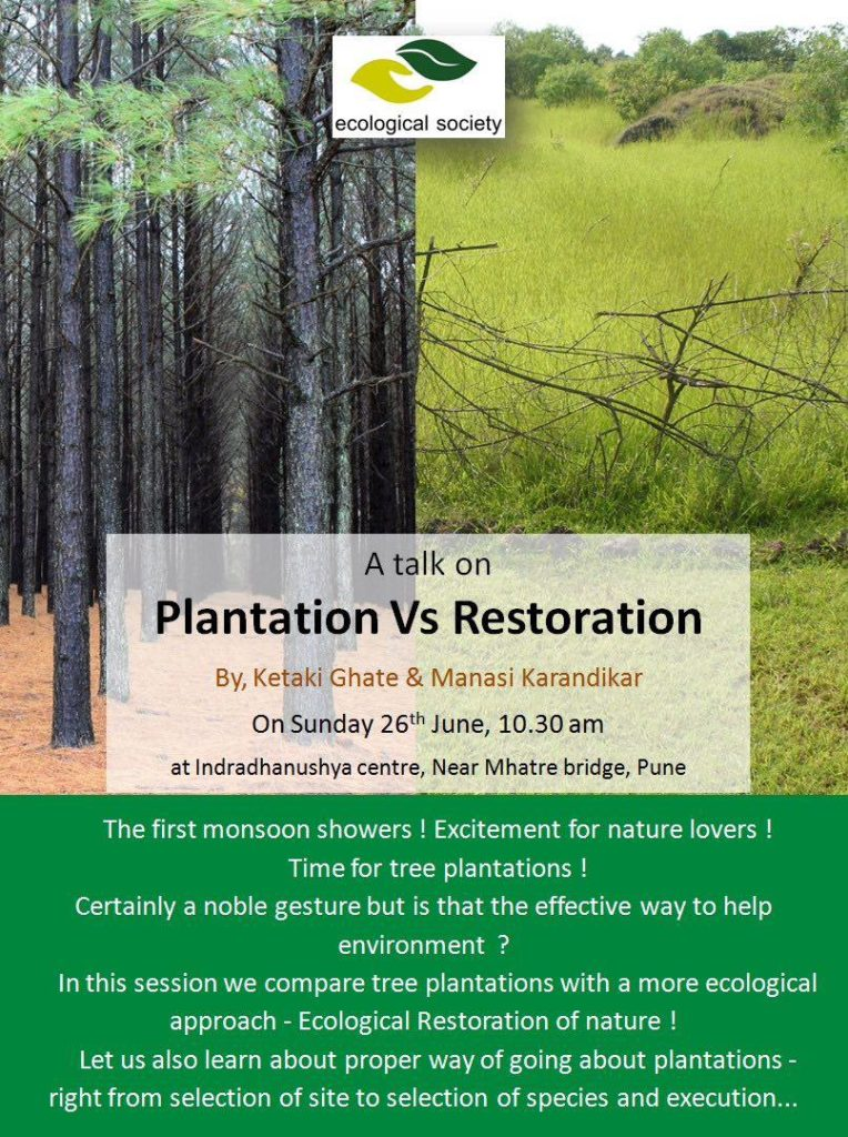 plantation vs restoration talk 26 june 2016