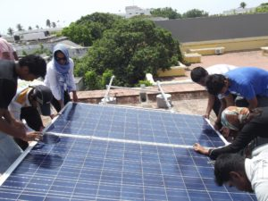 solar rooftop at aurobindo school pondi